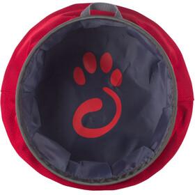 Mountain Paws Bol à eau - Article pour animaux - L pliable gris/rouge